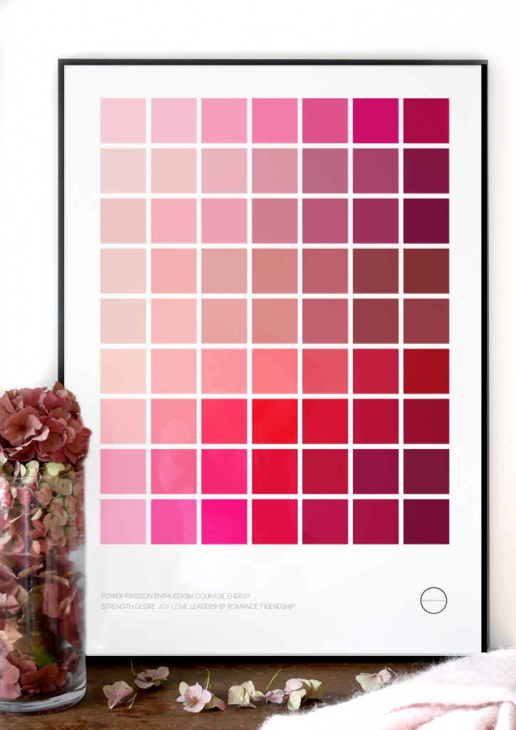 Inspirationsbild Color Palette Pink